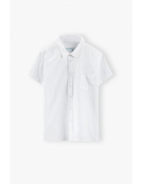 Koszula chłopięca z krótkim rękawem w kolorze białym