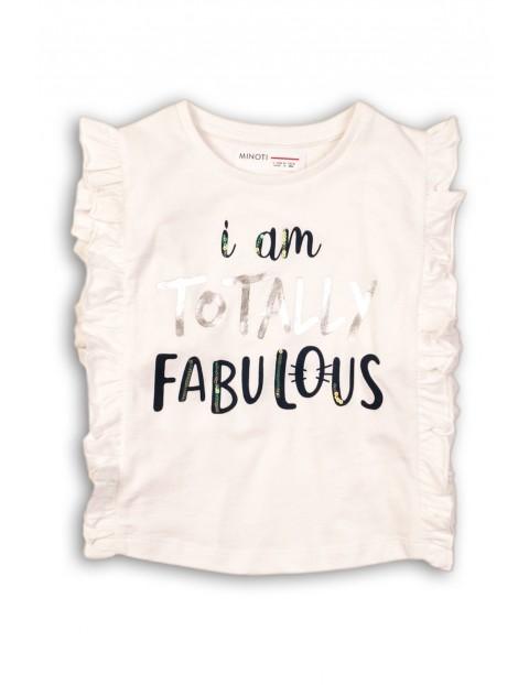T-shirt dla niemowlaka z ozdobną falbaną z boku