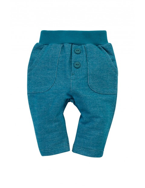 Spodnie dresowe Little Car - turkusowe