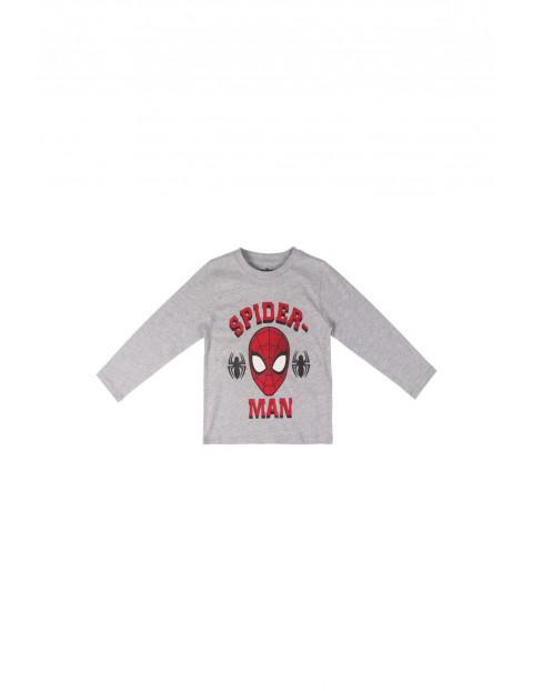 T-shirt  chłopięcy z długim rękawem  Spiderman - szary