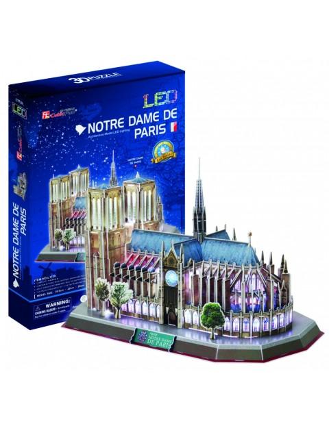 PUZZLE 3D Notre Dame (Światło)