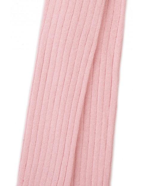 Rajstopy dziewczęce różowe w prążki