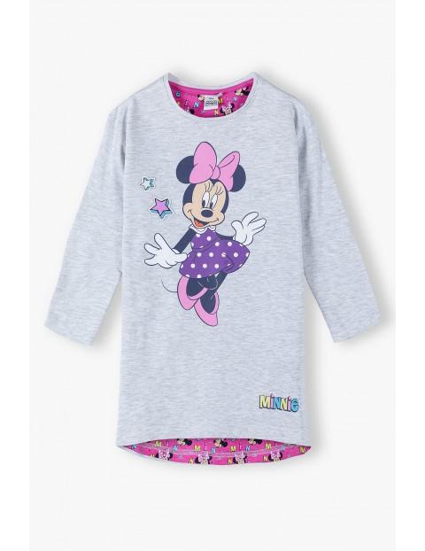 Sukienka Mickey - szara dzianinowa z długim rękawem