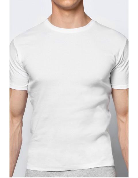 T-shirt bawełniany męski biały