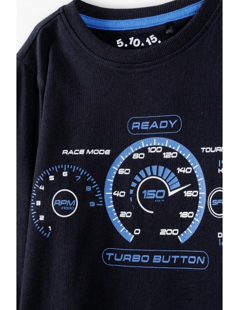 Bluzka chłopięca z długim rękawem- Turbo butto