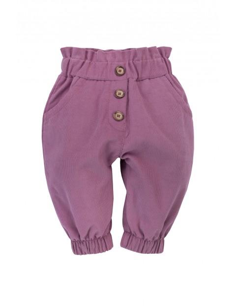 Spodnie z miękkiego sztruksu, z ozdobnymi guzikami z przodu My Garden