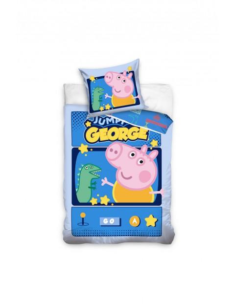 Komplet pościeli bawełnianej Peppa Pig 140x200+70x90 cm