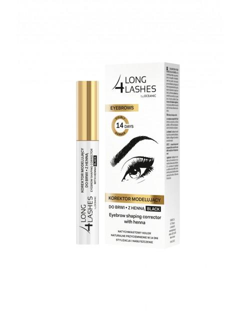 Long4Lashes Eyebrows korektor modelujący do brwi z henną black 10 ml