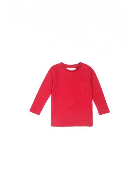 Bluzka niemowlęca bawełniana z kieszonką - czerwona