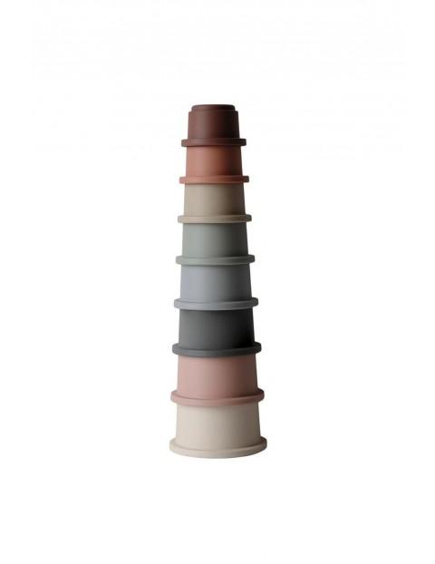 Mushie - Stacking Tower CLASSIC- wieża z kubeczków