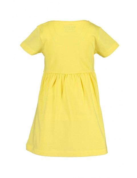 Sukienka dziewczęca żółta z kwiatkiem