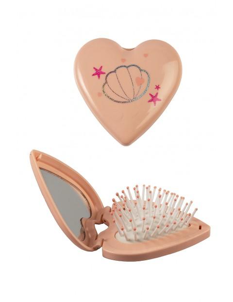Szczotka do włosów z lusterkiem w kształcie serca