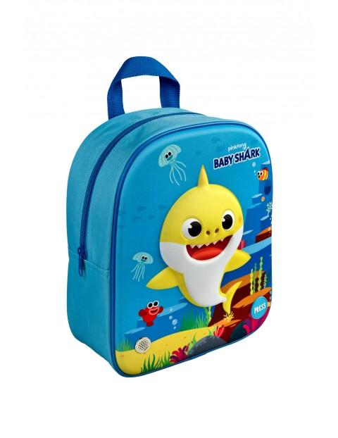 Plecak 3D z dźwiękiem BABY SHARK - niebieski