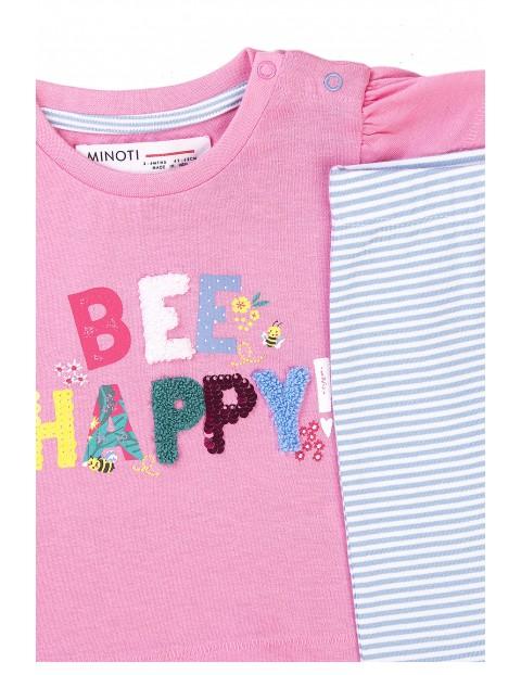 Bawełniany komplet niemowlęcy dwuczęściowy Bee happy