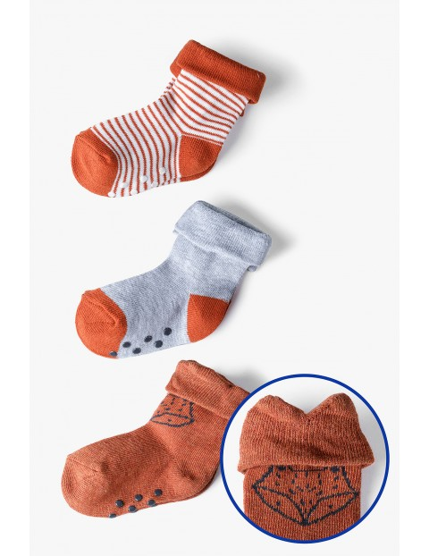 Skarpety niemowlęce z ABSem - 3pak
