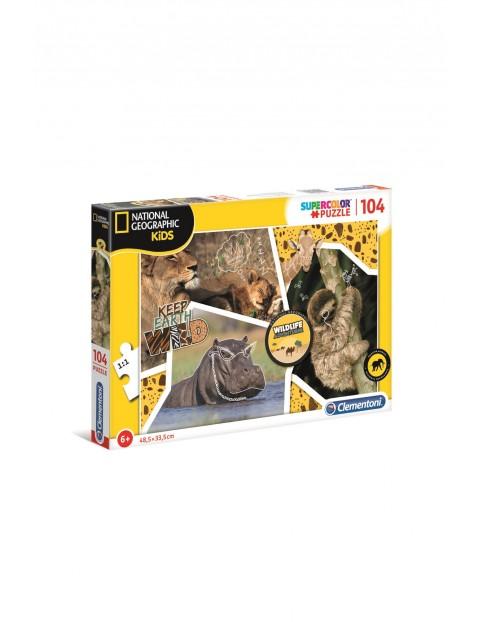 Puzzle  National Geographic Poszukiwacze przygód - 104 elementy wiek 6+