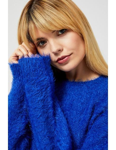 Sweter tupu miś- niebieski