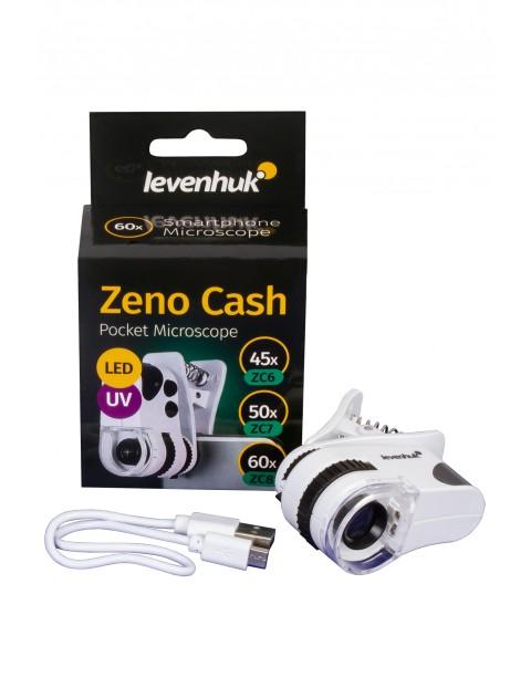Mikroskop kieszonkowy Levenhuk Zeno Cash ZC6 - biały