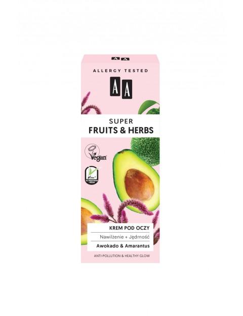AA Super Fruits&Herbs krem pod oczy nawilżenie + jędrność 15 ml