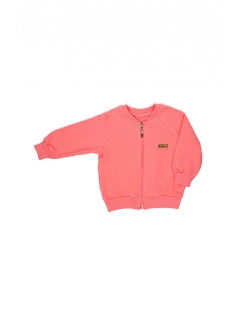 Bluza boomerka w koralowym kolorze