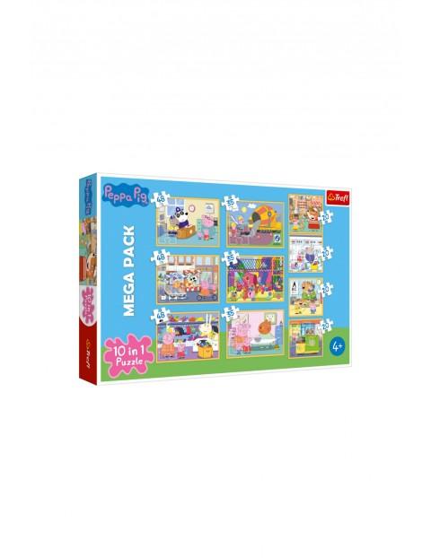 Puzzle MEGA PACK 10w1 Świnka Peppa Trefl