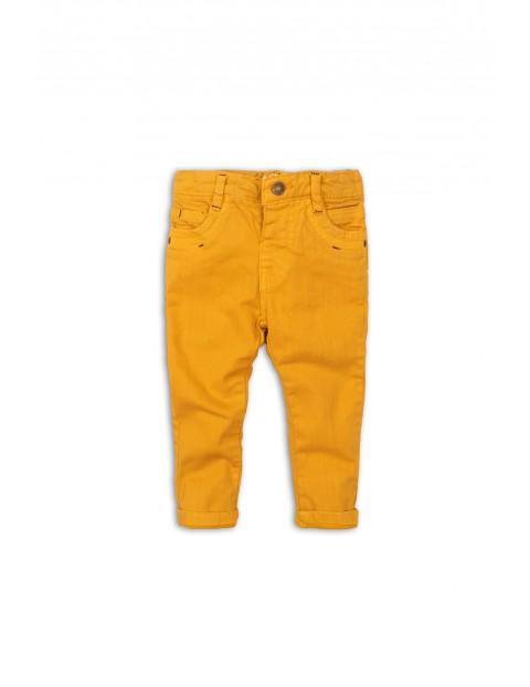 Spodnie niemowlęce żółte