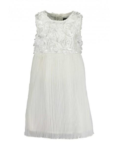 Sukienka na specjalne okazje- biała w róże