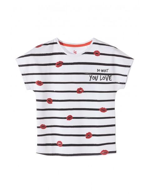 Koszulka dziewczęca w paski