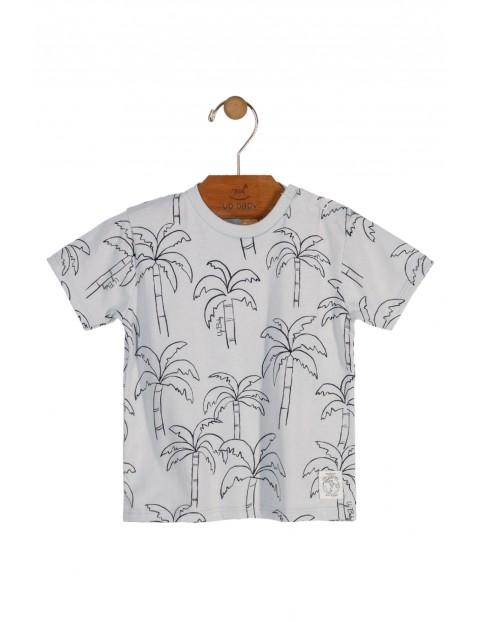 T-shirt chłopięcy w palmy- 100% bawełna