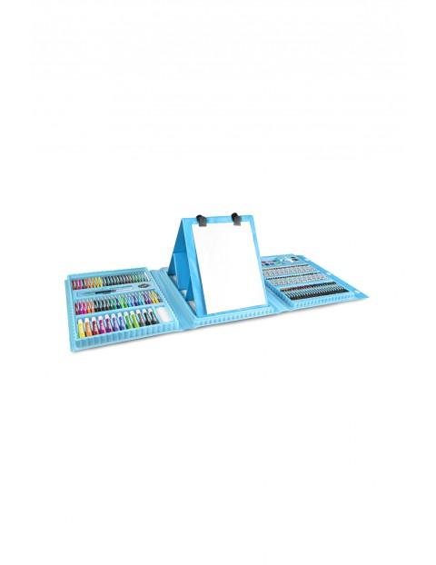 Zestaw artystyczny dla dzieci- ART SET-208 elementów niebieski