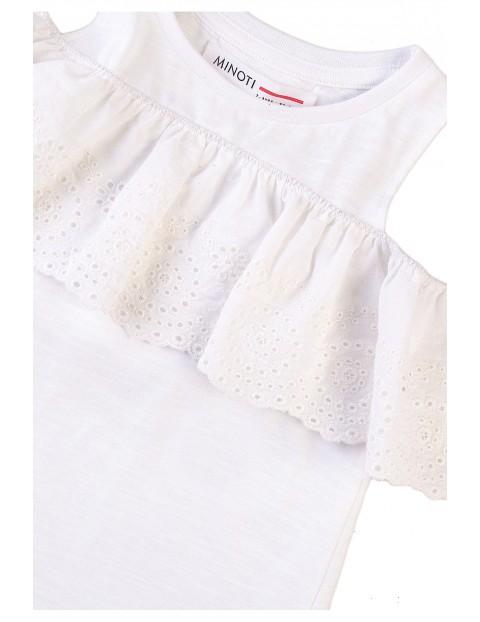 Bawełniana bluzka dziewczęca z rękawem cold arms