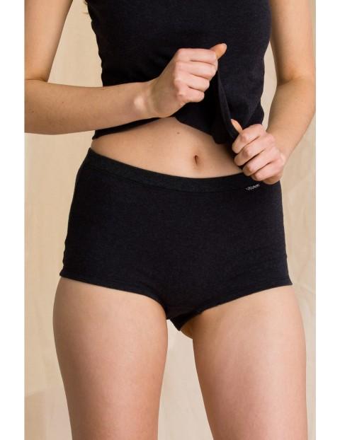 Ciepłe szorty damskie Key  - czarne 2pak