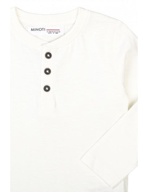 Bluzka niemowlęca bawełniana biała z długim rękawem