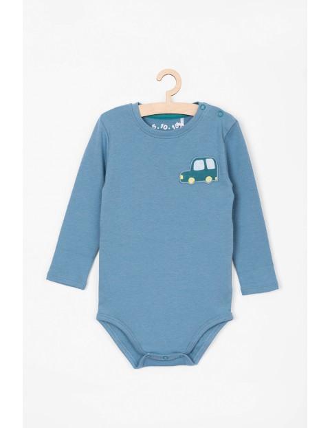 Body niemowlęce z długim rękawem- niebieskie