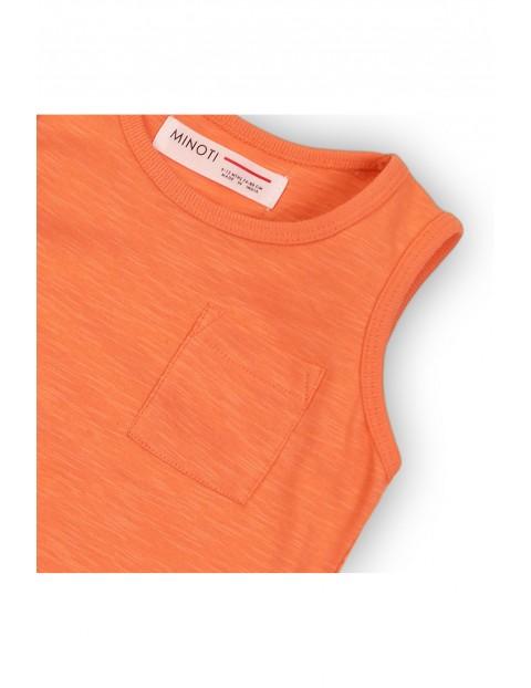 Bluzka chłopięca pomarańczowa na ramiączka