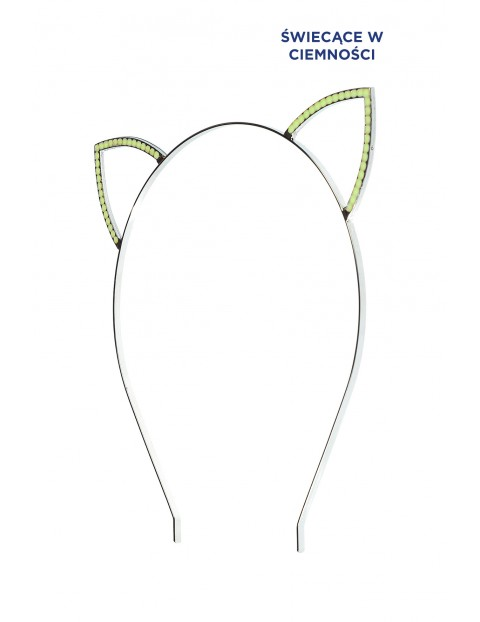 Opaska do włosów fluo- uszy kota 3Y3529