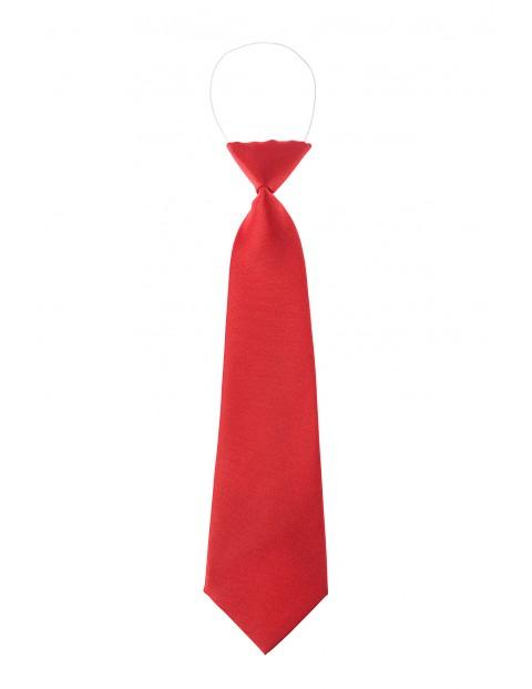 Krawat czerwony, z gumką