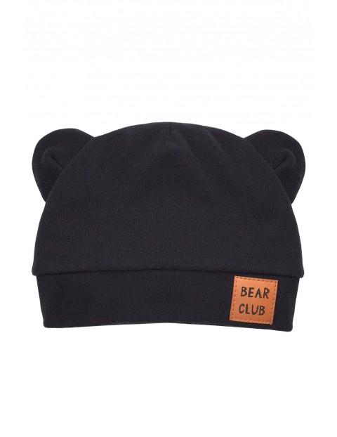 Czapka czarna bawełniana Bears Club