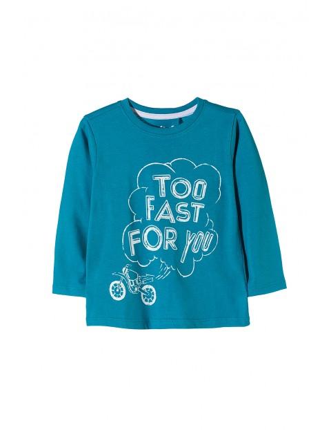 Bluzka niebieska z motocyklem