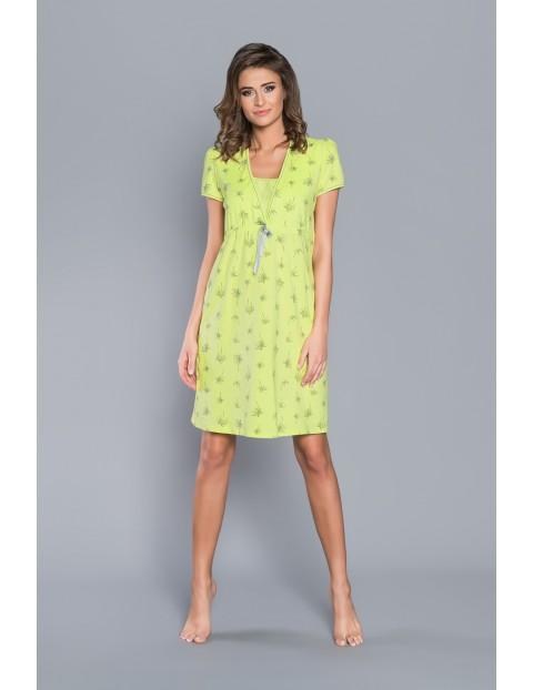 Limonkowa koszula nocna ciążowa