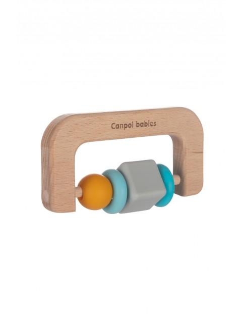 Canpol babies gryzak drewniano- silikonowy dla niemowląt