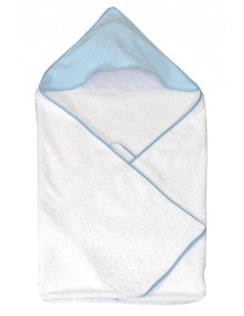 Okrycie kąpielowe dla dziecka 100x100cm - biało-niebieskie