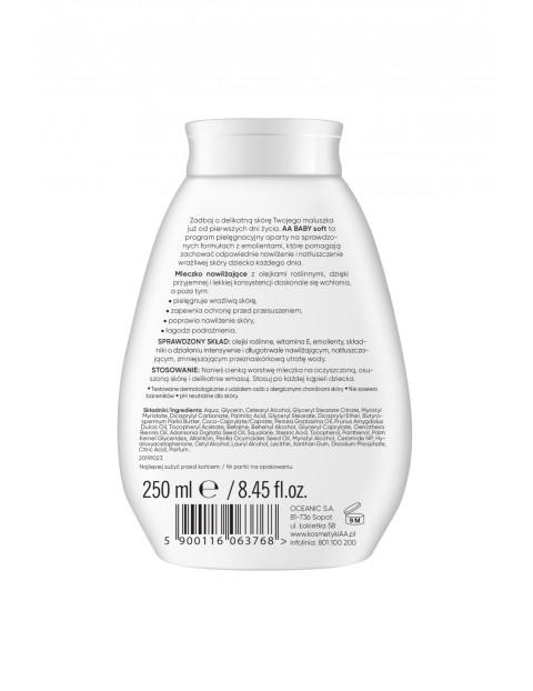 AA Baby Soft Łagodne mleczko nawilżające do ciała 250 ml