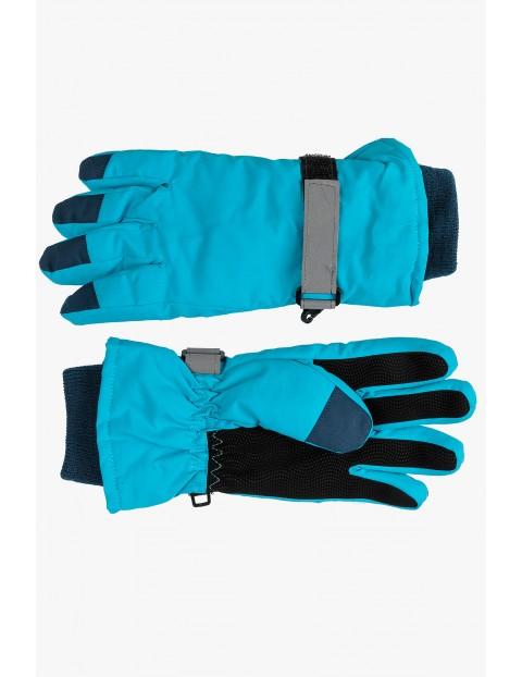 Rękawiczki narciarskie- niebieskie