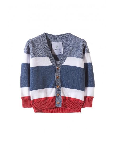 Sweter chłopięcy zapinany na guziki
