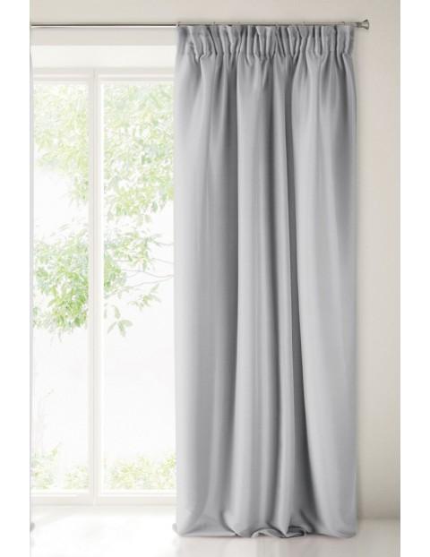 Zasłona z miękkiej tkaniny - stalowa - 140x270cm