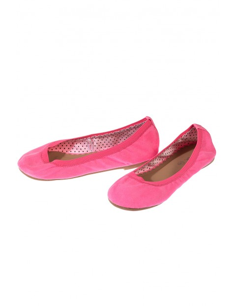 Baleriny dziewczęce- różowe