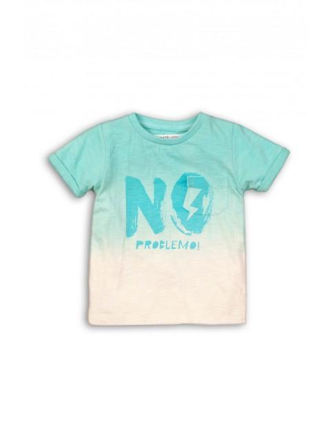 Niebiesko-biały t-shirt dla niemowlaka