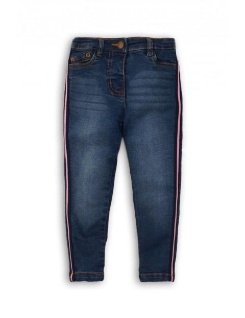 Spodnie dziewczęce jeansowe z lampasami