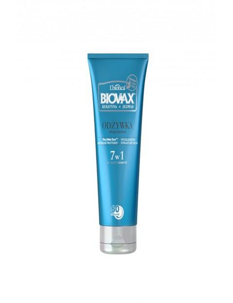 BIOVAX KERATYNA + JEDWAB odżywka do każdego rodzaju włosów 7w1 60 sekund 200ml